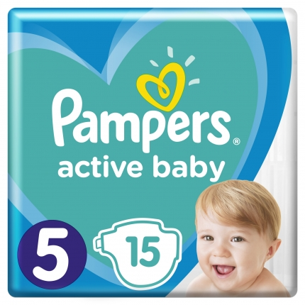 PAMPERS ACTIVE BABY ΜΕΓ 5  (11-16 kg) ,15 ΠΑΝΕΣ