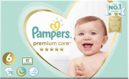 Pampers Premium Care Μέγεθος 6 (13+kg), 78 Πάνες