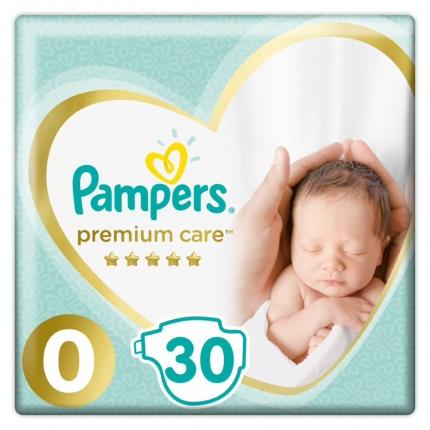 Pampers Premium Care Πάνες Μέγεθος 0 (Micro) <2,5 kg, 30 Πάνες
