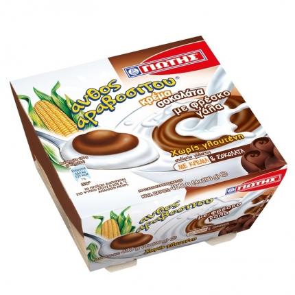 Γιώτης Άνθος Αραβοσίτου Κρέμα Σοκολάτα 4Χ100gr