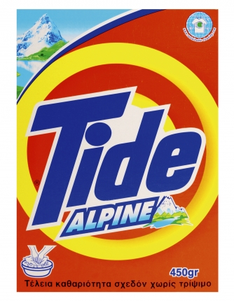 Tide Alpine απορρυπαντικό σκόνη για πλύσιμο ρούχων στο χέρι 450g