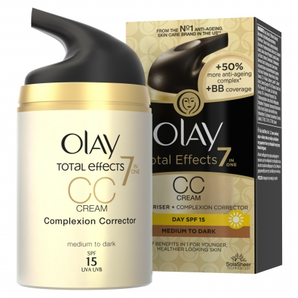 Olay Total Effects 7in1 CC Ενυδατική Κρέμα Ημέρας Medium To Dark 50ml
