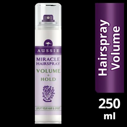 Aussie Miracle Hairspray Volume+Hold 250ml