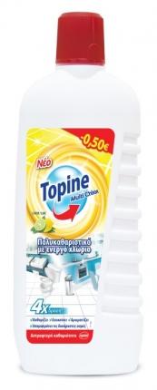 TOPINE MULTI CHLOR ΜΕΓ. ΕΠΙΦ. LE/LIME900ML-0,50€
