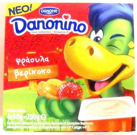 Danone Danonino Φράουλα-Βερύκοκο 4Χ50gr