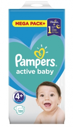 PAMPERS ACTIVE BABY MEGA PACK  ΜΕΓ 4+ (10-15 kg), 120 ΠΑΝΕΣ