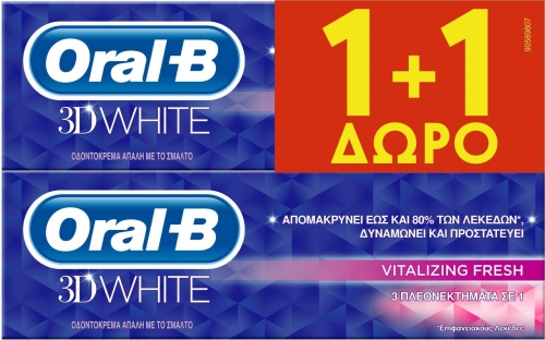 ORAL-B 3DW VITALIZING FRESH (75+75) ML