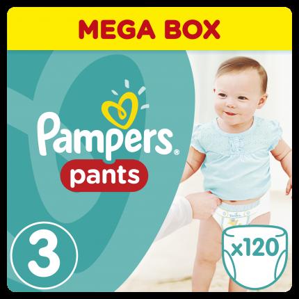 Pampers Pants Μέγεθος 3 (6-11kg), 120 Πάνες-βρακάκι
