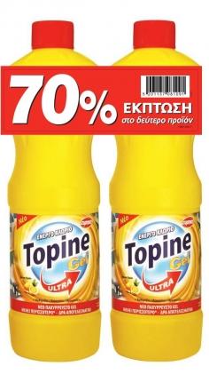TOPINE GEL ΧΛΩΡΙΟ ΛΕΜΟΝΙ 1250ML SET TO 2o TMX -70%