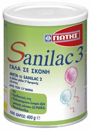 Γιώτης Sanilac 3 Βρεφικό Γάλα 400gr