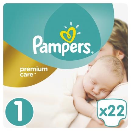 Pampers Πάνες Premium Care Μέγεθος 1 (2-5 kg), 22 Πάνες