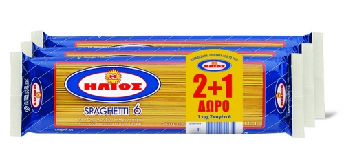 Ήλιος Σπαγγέτι Ν6 500gr 2+1Δ