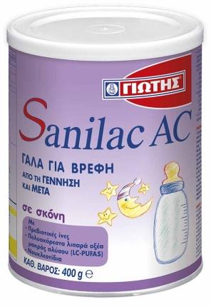 Γιώτης Sanilac AC Βρεφικό Γάλα 400gr