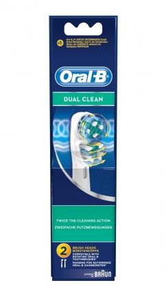 2 Ανταλλακτικές Κεφαλές Βουρτσίσματος Oral-B® Dual Clean