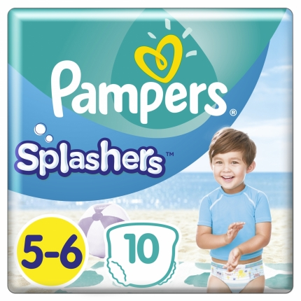 PAMPERS SPLASHERS CP ΜΕΓ 5-6 (14+kg), 10ΤΕΜ.