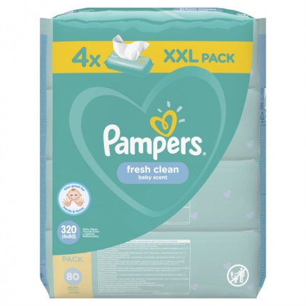 PAMPERS WIPES FRESH 3X4X80