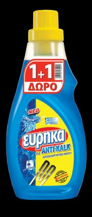 ΕΥΡΗΚΑ ANTIKALK GEL 750ML 1+1Δ