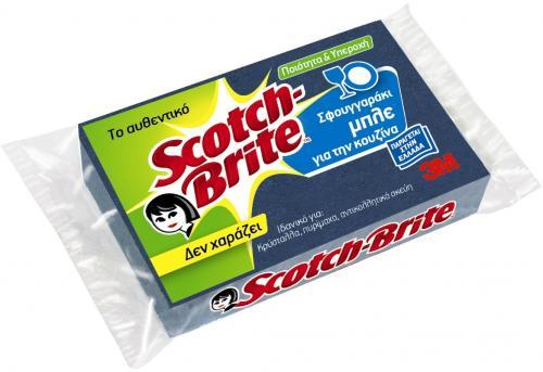 3M Scotch Brite Σφουγγαράκι Μπλε !