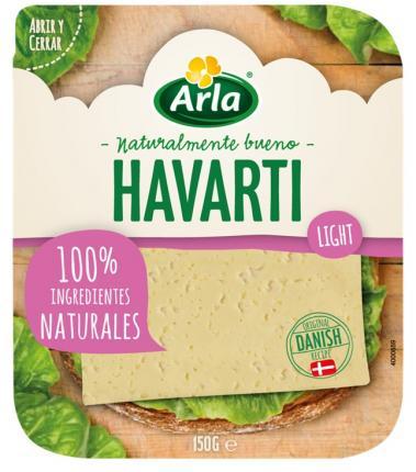 ARLA HAVARTI LIGHT 16% ΦΕΤΕΣ 14x150gr