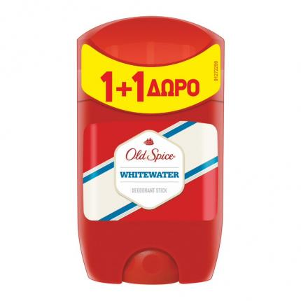 OLD SPICE DEO STICK WHITEWATER 50ML (1+1 ΔΩΡΟ)
