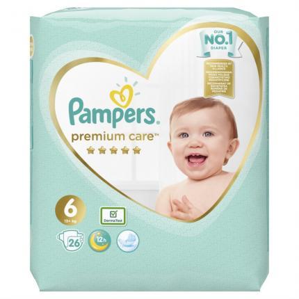 Pampers Premium Care Μέγεθος 6 (13+kg), 26 Πάνες