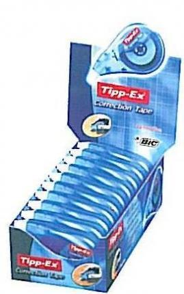 BIC ΔΙΟΡΘΩΤΙΚΗ ΤΑΙΝΙΑ TIP-EX SIDE DISPENSER BOX 10