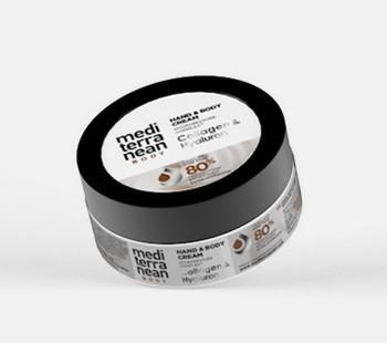 Mediterranean Body & Hand Cream Κολλαγόνο & Υαλουρονικό 750ML