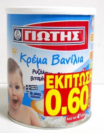 ΓΙΩΤΗΣ ΚΡΕΜΑ ΒΑΝΙΛΙΑ 300ΓΡ -0,60Ε