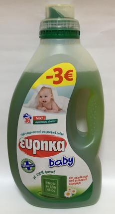 ΕΥΡΗΚΑ BABY ΥΓΡΟ ΑΠΟΡΡ 1,8L-3€