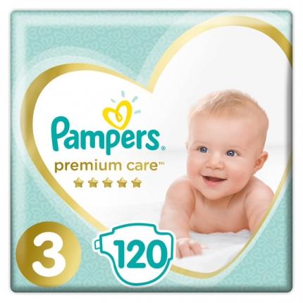 Pampers Premium Care Μέγεθος 3 ( 5-9kg), 120 Πάνες