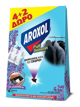 AROXOL FULL SEASON ΣΚΟΡ/ΝΟ SACHETS 4+2 TMΧ Δ
