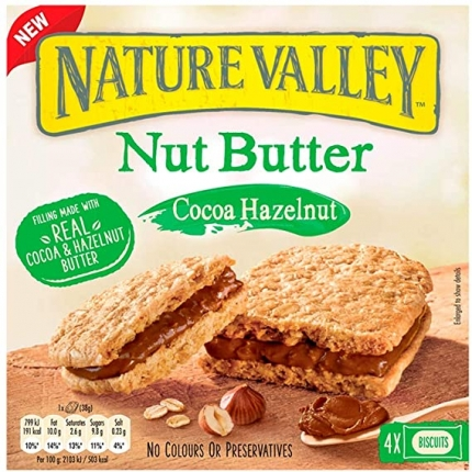 NATURE VALLEY NUT BUTTER  BISCUIT SANDWICH  6X4X38G