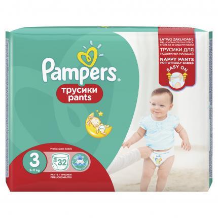Pampers Pants Μέγεθος 3 (6-11kg), 32 Πάνες-βρακάκι