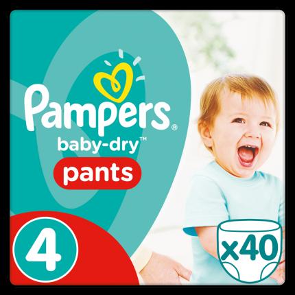 Pampers Baby Dry Pants Maxi Ν. 4 (8-15kg), 40 Πάνες-βρακάκι
