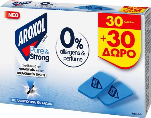 AROXOL PURE & STRONG MAT 1+1Δ 2x30 ΤΑΜΠΛx18ΤΜΧ
