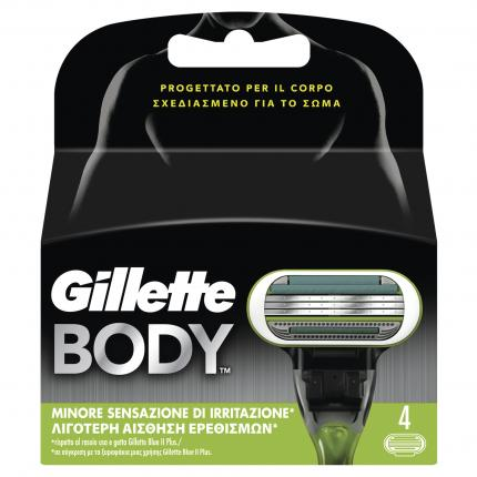 Gillette Body Grooming Aνταλλακτικά 4τεμ