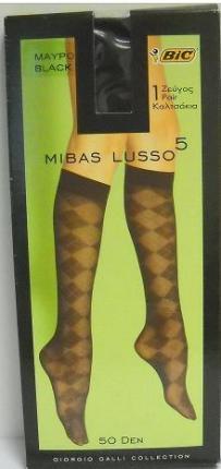 BIC KΑΛΤΣΑΚΙ MIBAS LUSSO 5 ΜΑΥΡΟ