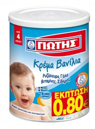 Γιώτης Κρέμα Βανίλια 300gr Έκπτωση -0,80€