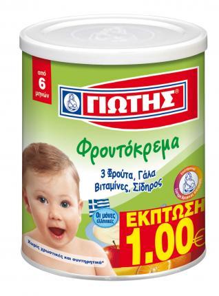 Γιώτης Φρουτόκρεμα 3 Φρούτα 300gr Έκπτωση -1€