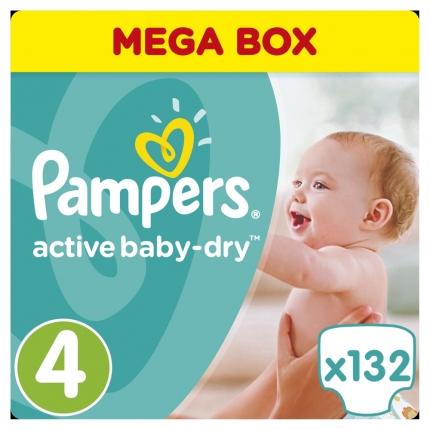 Pampers Πάνες Active Baby-Dry Μέγεθος 4 (Maxi) 8-14Kg, 132 Πάνες