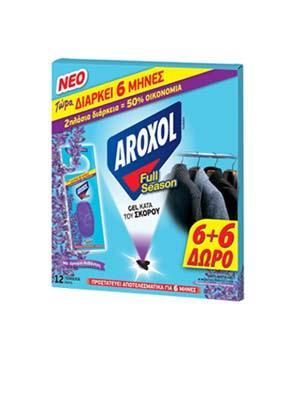 AROXOL F SEASON ΣΚΟΡ/ΝΟ GEL 6+6 ΤΜΧ Δ