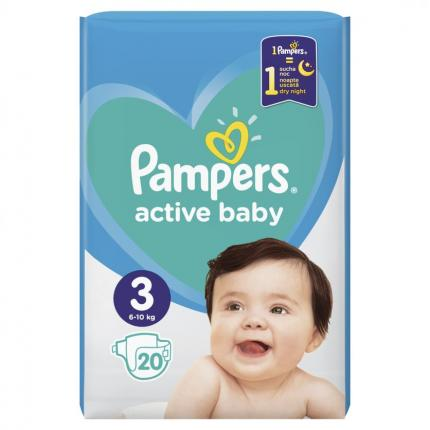 PAMPERS ACTIVE BABY ΜΕΓ 3 (6-10 kg), 20 ΠΑΝΕΣ