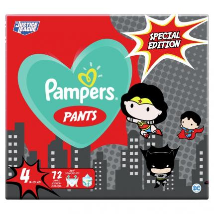 PAMPERS PANTS ΜΕΓ 4 (9-15kg) 1X72 SUPER ΗΡΩΑΣ LIMITED EDITION