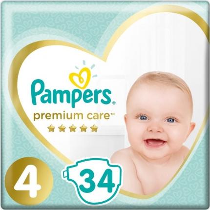 Pampers Premium Care Μέγεθος 4 (8-14kg), 34 Πάνες