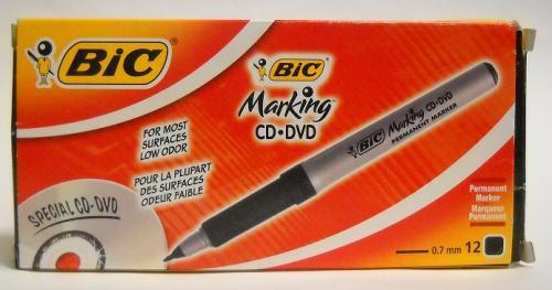 ΜΠΙΚ MARKING CD-DVD B*12 BLACK